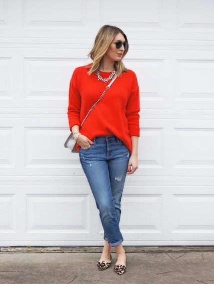 Red Sweater   Boyfriend Jeans… | Wear & When