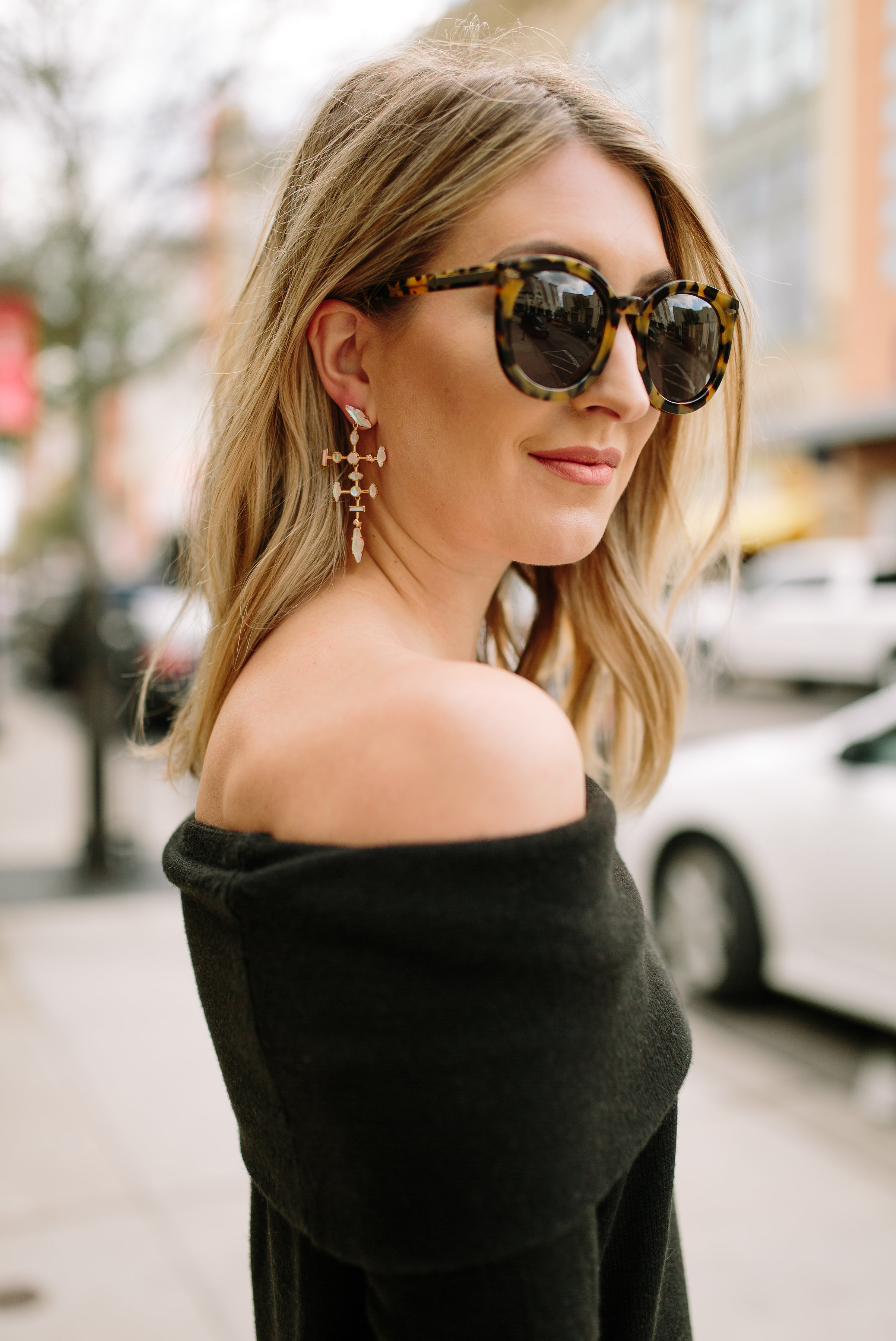 Black Off the Shoulder Sweater… | Wear & When