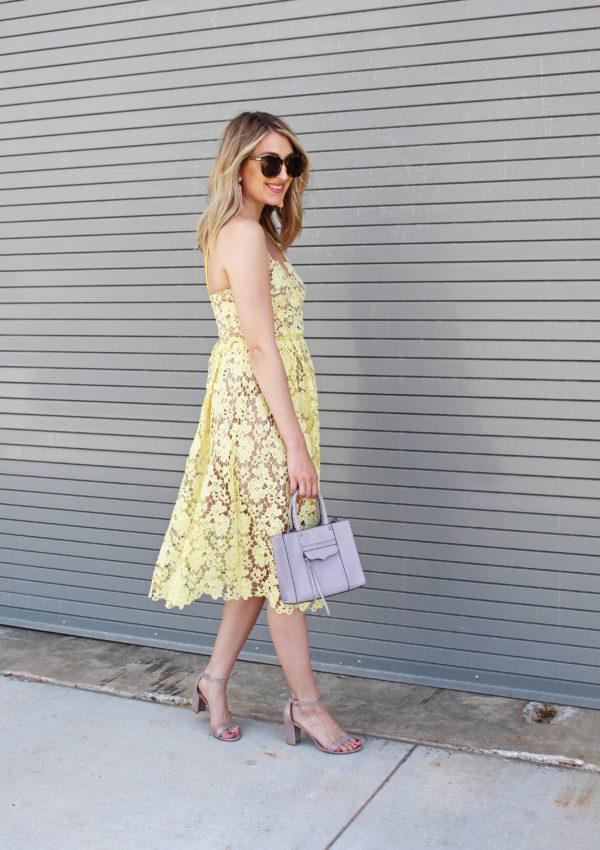 Yellow Lace Dress…