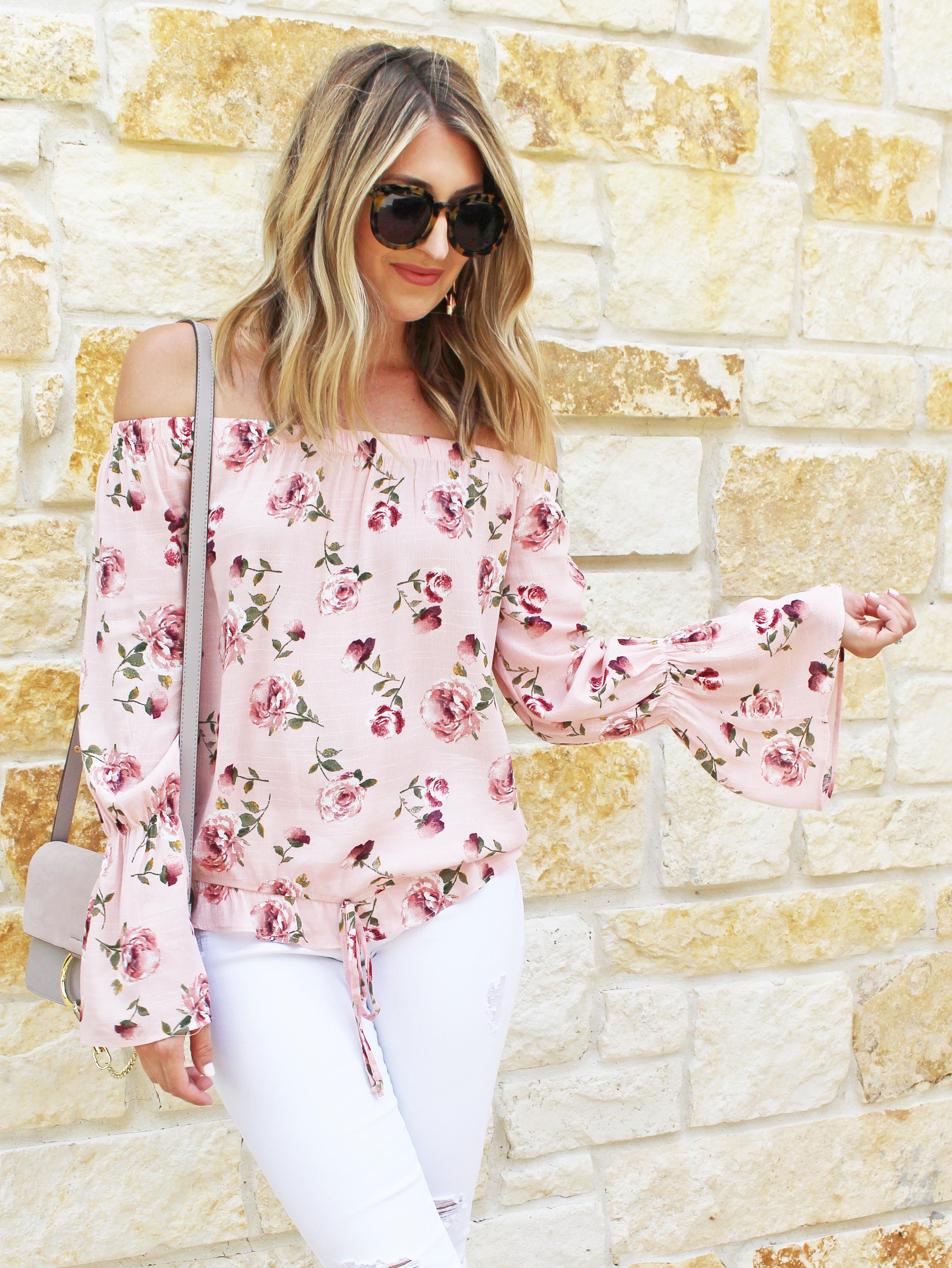 0980b8a8d2c Floral Off the Shoulder Top… | Wear & When