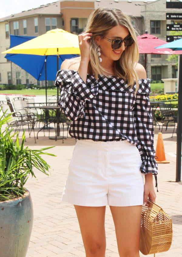 White Ruffle Shorts…