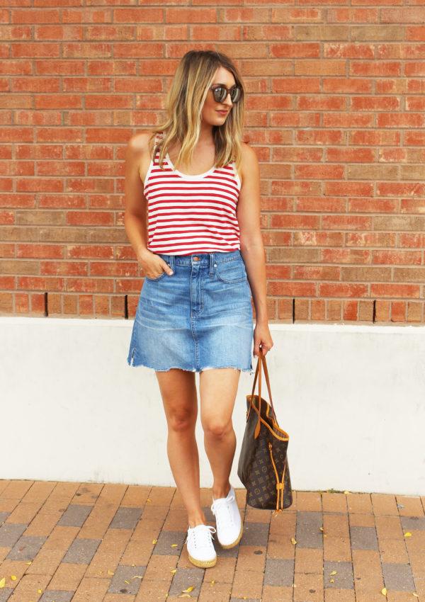 Red Stripes + Denim  Mini…