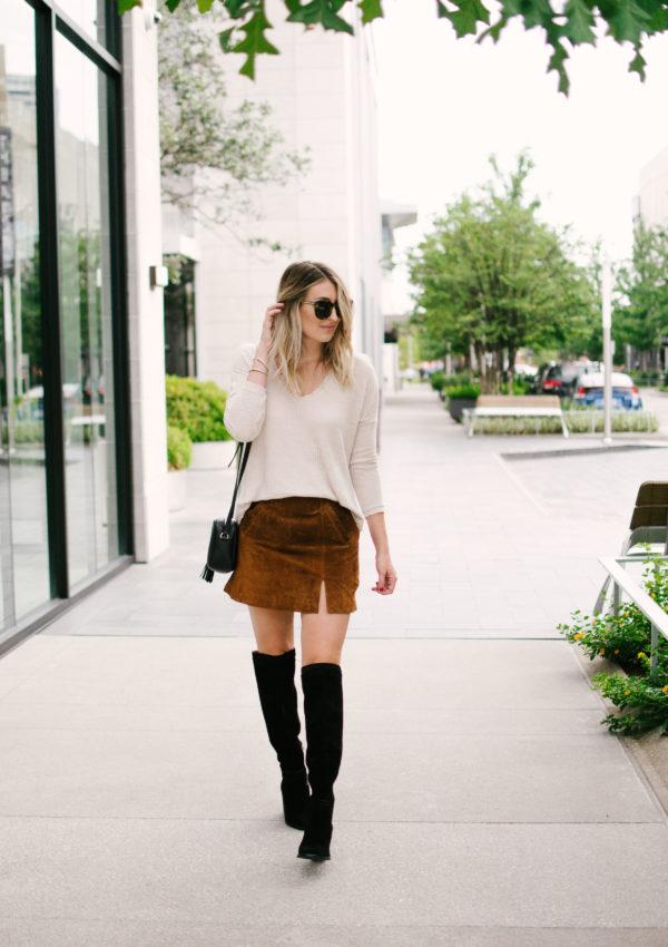 Suede Mini Skirt…