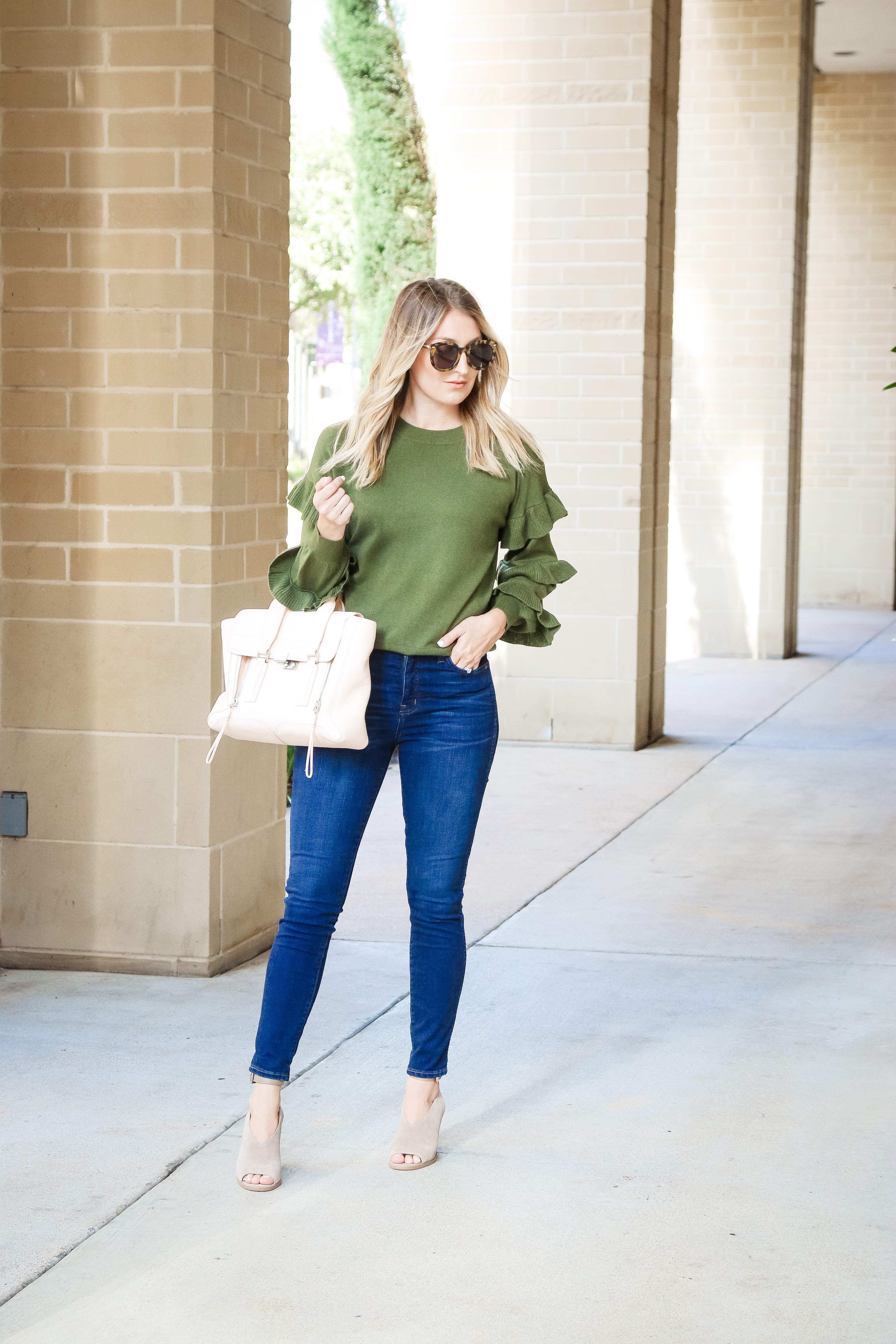 Sweater  J.Crew (also here)   Denim  Madewell   Shoes  Marc Fisher   Bag   3.1 Phillip Lim (similar here f9178cc9339f