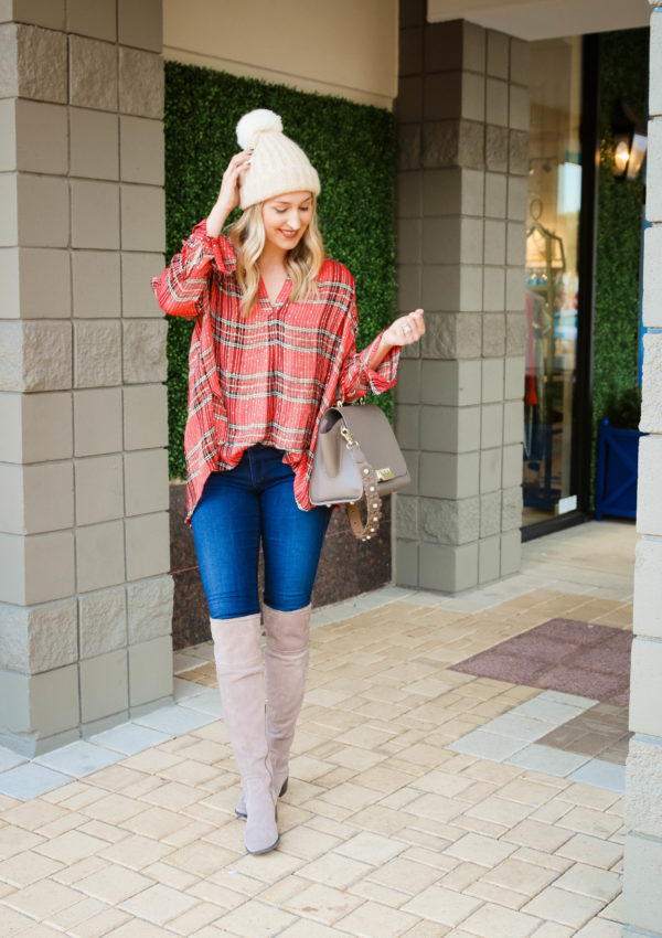 The Perfect Plaid Holiday Top…