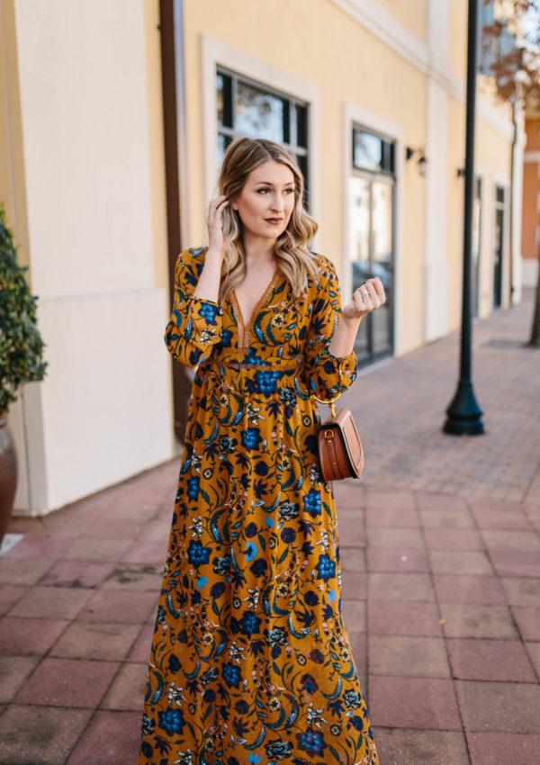 Printed Fall Maxi Dress…