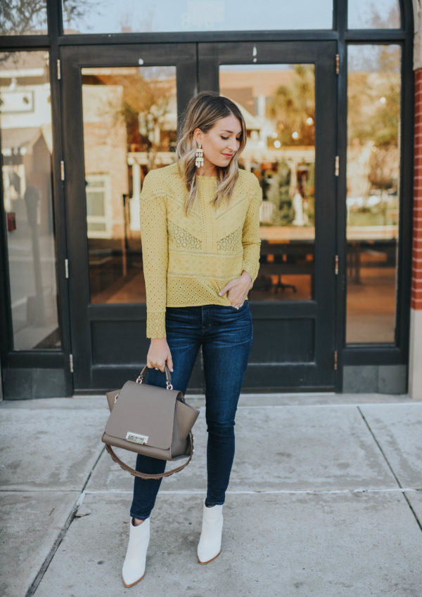 Yellow Lace Top…
