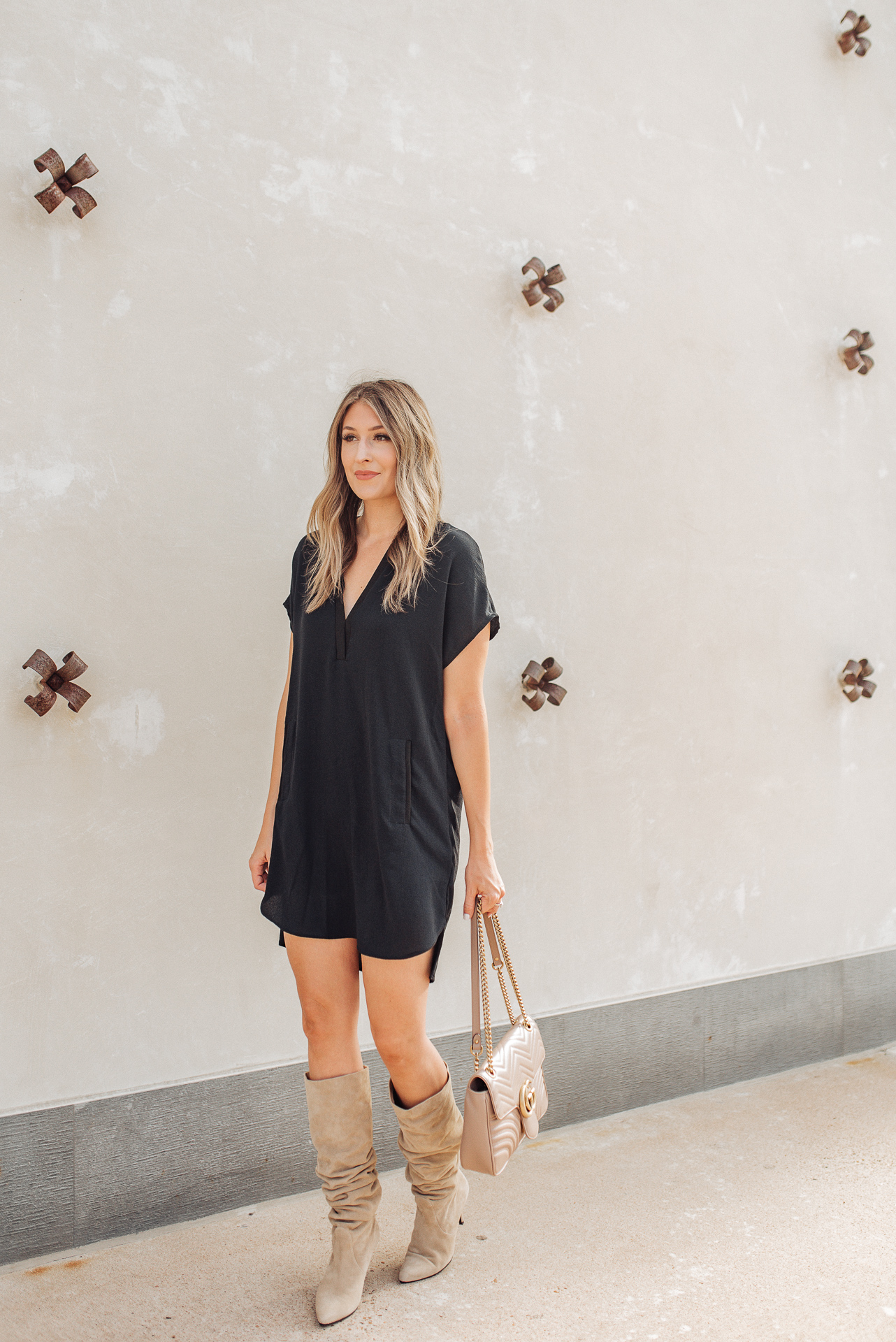 slouch boots with dress