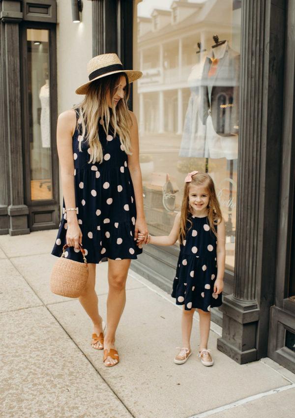 Matching Polka Dot Dresses + 40% off at Loft…